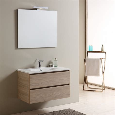 immagini mobili bagno mobile bagno da 80 cm con lavabo in ceramica e cassetti