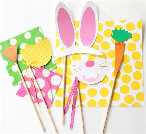 printable easter photo booth props free easter photo booth printables pizzazzerie
