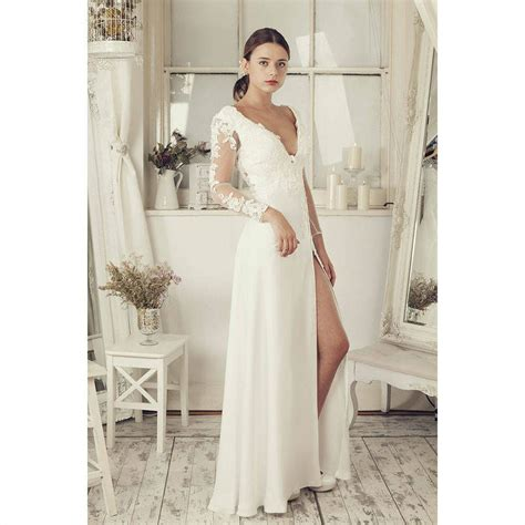 White Wedding Gowns With Sleeves by Sleeves Soft White Wedding Dress By Elliot