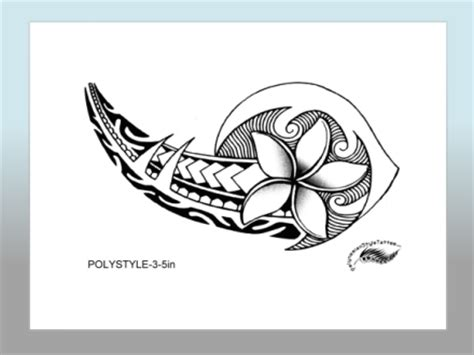 polynesian style flower tattoo designs