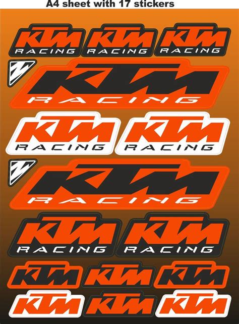 Lego Motorrad Ktm by Ktm Stickers Race Stickers Decals Helmet Decal Motorcycle