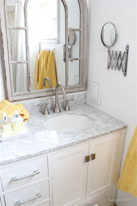 bathrooms in usa remodelaholic updated bathroom single sink vanity to