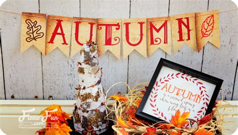 free printable autumn banner fall banner free printable fleece fun