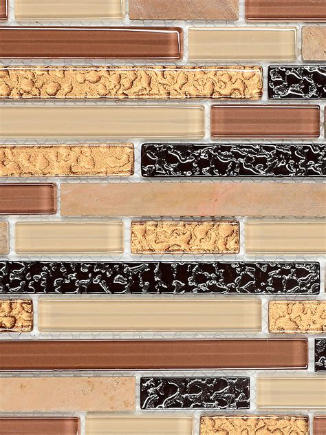 Kitchen Backsplash Mosaic Tiles beige brown gold glass marble mosaic tile for backsplash