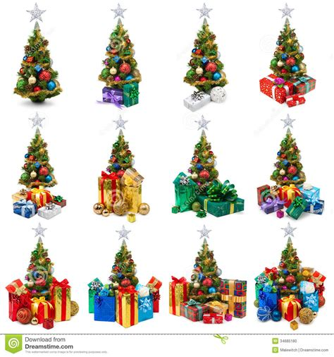 christmas trees collection stock photo image 34685180