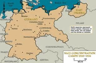 Concentration Camps In Germany Map by Concentration Camps Germany Map