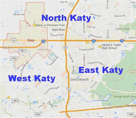 where is katy texas in the map katy tx