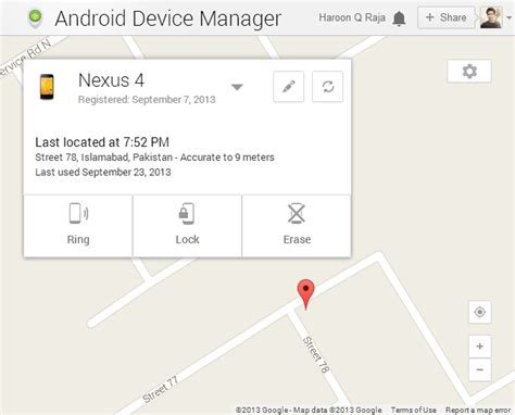 Android Device Manager by Android Device Manager Remotely Ring Wipe Lock Your