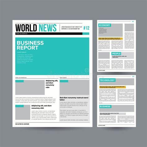 modern tabloid layout newspaper design template vector modern newspaper layout