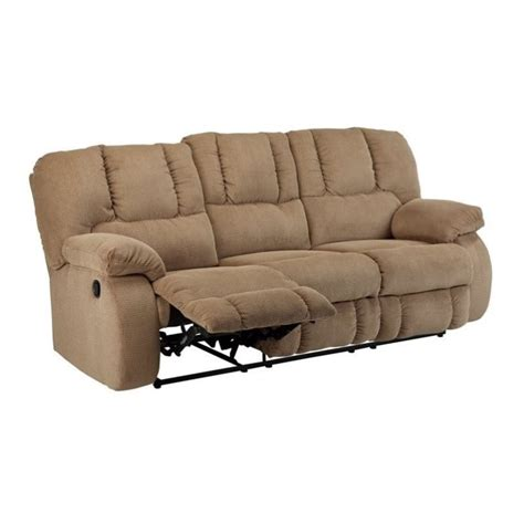 fabric reclining sectional sofa ashley roan fabric reclining sofa in mocha 3860288