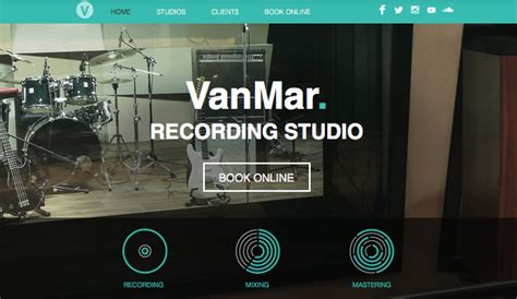 Music Studio Wix Template Wix Music Template Best Squarespace Template For Musicians