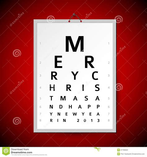 vector christmas eye test chart  xmas card stock photography image