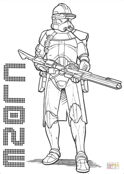 clone commander cody coloring page free printable