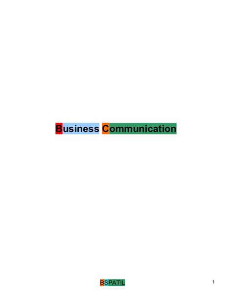 Mba From Communications by Business Communication Book 1 St Mba Bec Doms