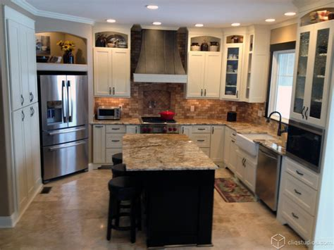 Multi Countertops by Multi Tone And Multi Finish Kitchens Traditional