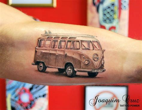 vw bus tattoo v dub surf inky surf and tatoo