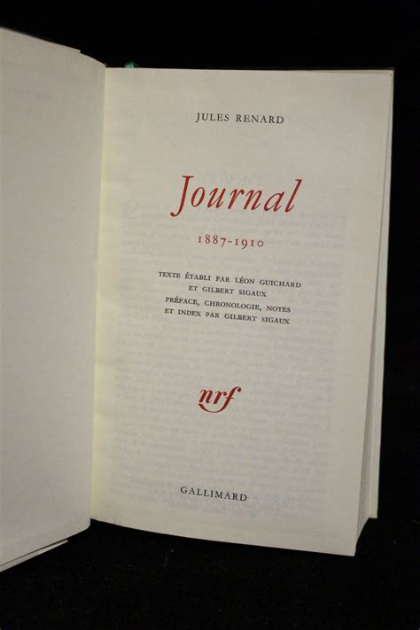 libro journal 1887 1910 renard journal 1887 1910 edition originale com