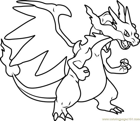 coloring pages of mega pokemon mega charizard x pokemon coloring page free pok 233 mon