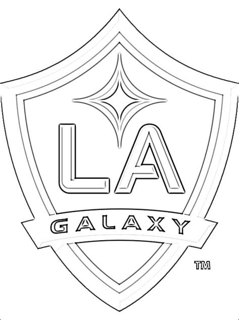 la galaxy colors logo of los angeles galaxy football team coloring pages