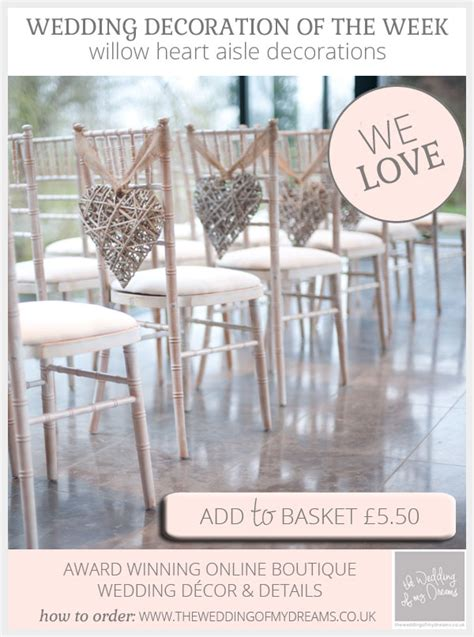 Wedding Aisle Decorations Uk by Willow Aisle Decorations For Wedding Ceremony