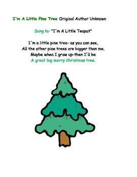 the little christmas tree poem i m a pine tree by title 1 teachers pay teachers