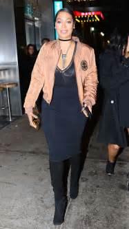Lala Dress la la anthony in black dress at tao in new york