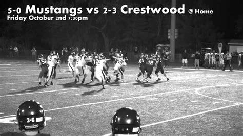 crestwood mustangs football week 6 premier mustangs vs crestwood