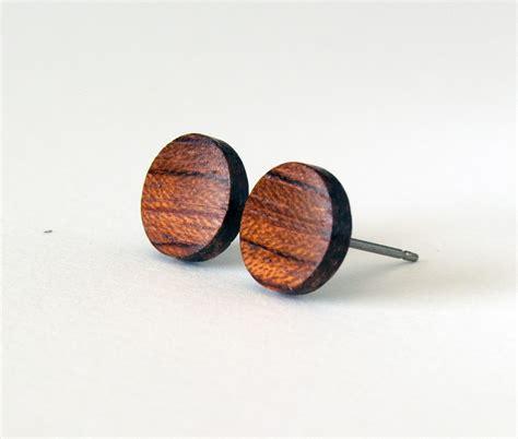 wood earring wood studs wood earrings mens earrings wooden stud