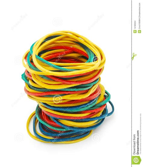 colored bans colored elastic bands stock images image 14180254