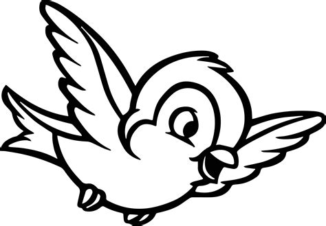 bird coloring page snow white forest animals snow white bird coloring pages