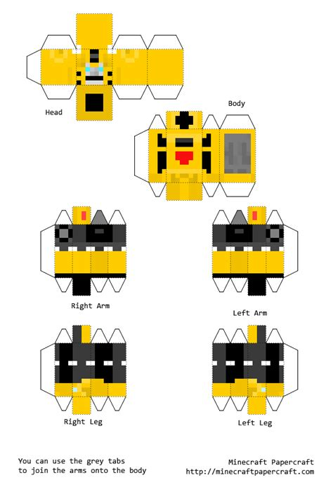 Bumblebee Papercraft - 1 bumblebee by transformersgeek on deviantart