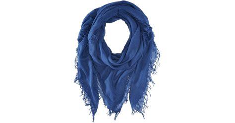 chan luu and silk scarf in blue blue