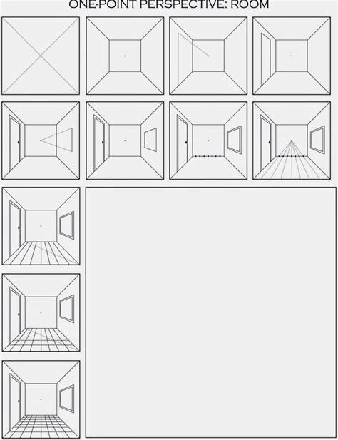 The Helpful Art Teacher Draw A Surrealistic Room In One Point Perspective Room Templates For Artists
