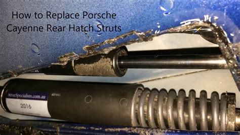 how to replace rear shocks buyautoparts com youtube how to replace porsche cayenne rear hatch struts youtube