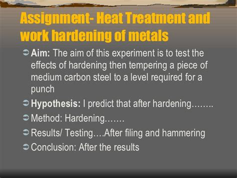 heat treatment for metals heat treatment of metals powerpoint