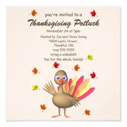 turkey thanksgiving potluck invitations
