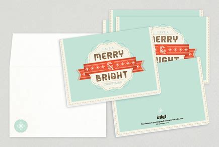 Merry And Bright Card Template by Merry Bright Greeting Card Template Inkd