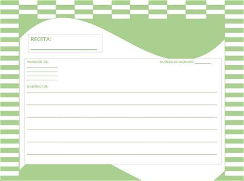 recetas de cocina para imprimir hojas excel facil plantillas de tarjetas para recetas