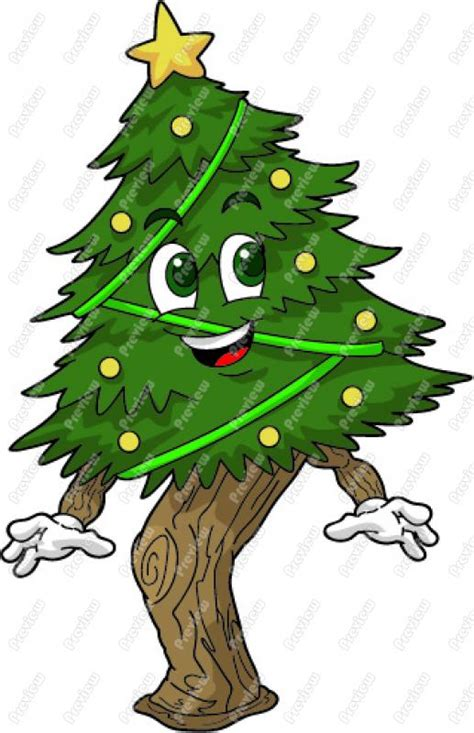 cartoon christmas tree december tree clipart 101 clip
