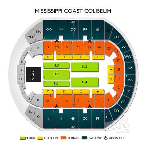 ms coast coliseum seating chart mississippi coast coliseum seating chart seats
