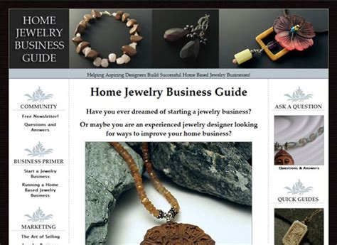 Handmade Websites - jewelry websites