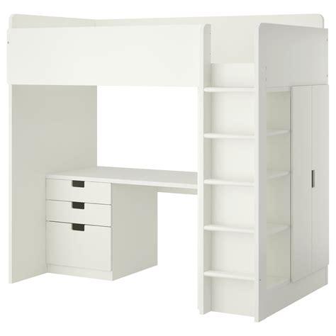 ikea loft bed stuva loft bed combo w 3 drawers 2 doors white 207x99x193 cm ikea