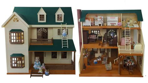 sylvanian haus house on the hill room tour sylvanian families calico