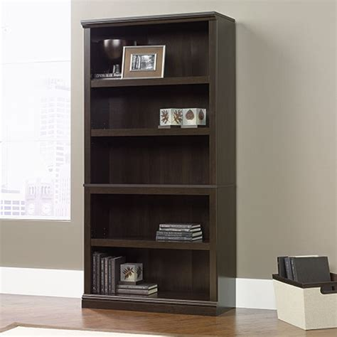Sauder Cherry Bookcase Sauder 5 Shelf Bookcase Cinnamon Cherry Boscov S