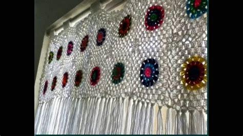 como hacer estas lindas cortina tejidos  crochet imagenes  youtube