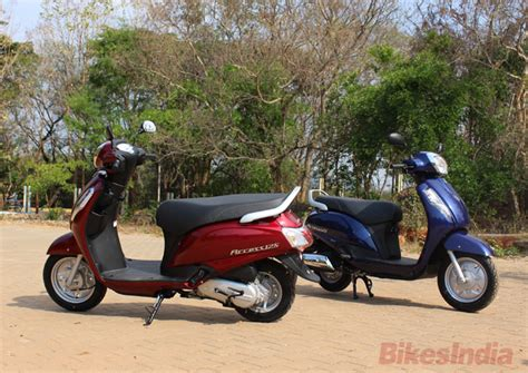 Suzuki Access Review New Suzuki Access 125 Vs Mahindra Gusto 125 Shootout