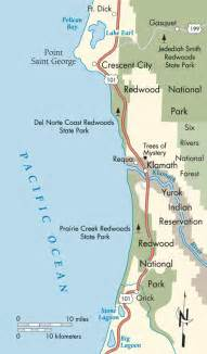 northern california coastline map northern california recommends the best hiking trail