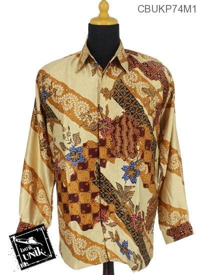 Kemeja Batik Kawung Grompol Printing Lengan Panjang baju batik kemeja panjang semi motif gradasi kawung