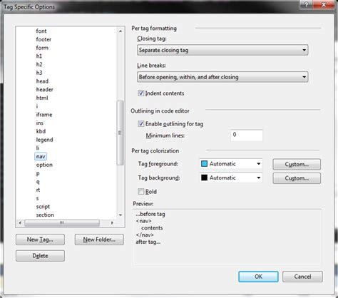 format html shortcut visual studio can i configure quot format document quot support for html5 tags