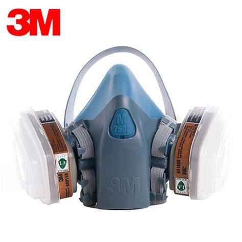 Baoweikang Masker Gas Respirator original 3m 7502 6001 gas dust mask silicone mask set anti organic vapor benzene pm2 5 multi